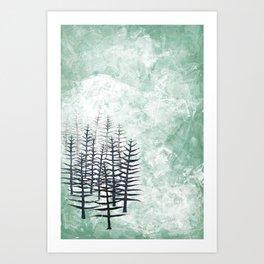 January Abstract Art Print