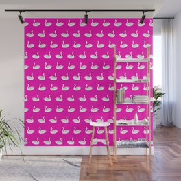 SWANS ((hot pink)) Wall Mural
