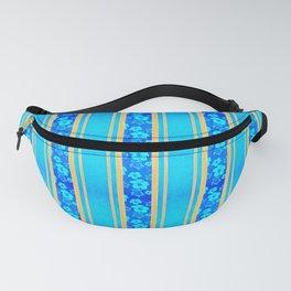 Blue Hibiscus Honu Stripes Fanny Pack