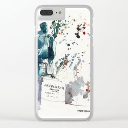 20141129 Chinese Garden Confucius Statue Clear iPhone Case
