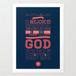 Philippians 4:4-7  Art Print