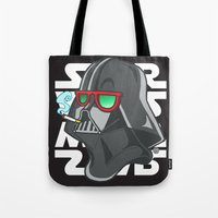 darth Tote Bags featuring Darth by Octofly Art