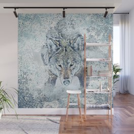 Snow Wolf Wall Mural