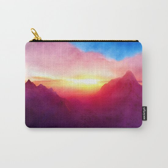 Pastel Mountain Carry-All Pouch
