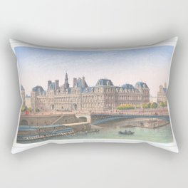 Paris art print Paris Decor office decoration vintage decor HOTEL DE VILLE of Paris Rectangular Pillow