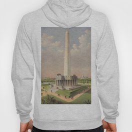 Currier & Ives. - Print c.1885 - The National Washington Monument Hoody