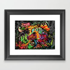 Just another day in the jungle Framed Art Print