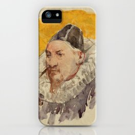 ANKER, ALBERT (1831 Ins 1910)   Portrait of a man with ruff. iPhone Case