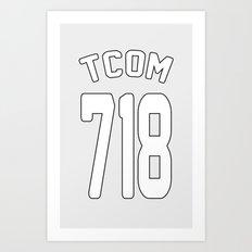 TCOM 718 AREA CODE JERSEY Art Print
