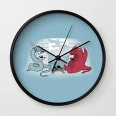 A Friend's Visit Wall Clock