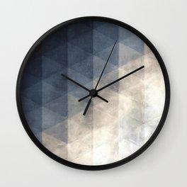 watercolortri Wall Clock