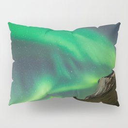 Aurora Borealis - Northern Lights over Iceland Pillow Sham