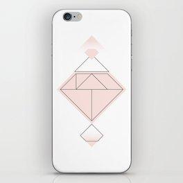 Tangram Diamond Linework Pink iPhone Skin