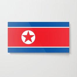 North Korea Flag Metal Print