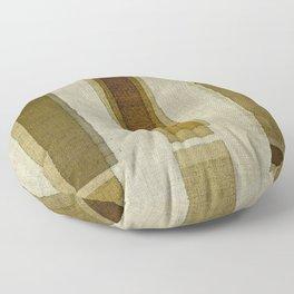 """Burlap Texture Greenery Columns"" Floor Pillow"