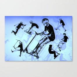 It's All About The Scooter! - Scooter Tricks Canvas Print