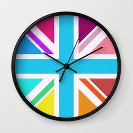 Union Jack/Flag Design Multicoloured Wall Clock