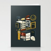 221b Stationery Cards featuring 221B by Nina Martinez