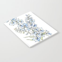 Blue Delphinium Flowers Notebook