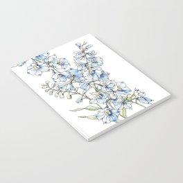 Blue Delphinium Flowers Notebook