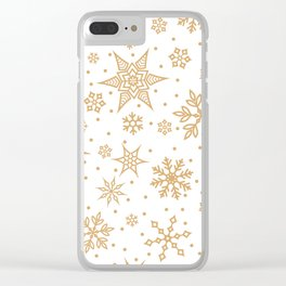 Let it snow IV Clear iPhone Case