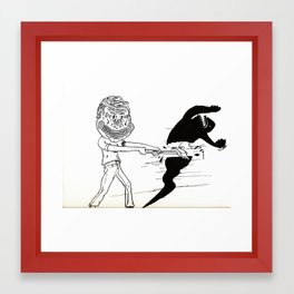 Break Yourself Down Framed Art Print