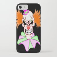 pennywise iPhone & iPod Cases featuring Demented Clown Skull by J&C Creations