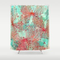 butterfly Shower Curtains featuring Butterfly Pattern by Klara Acel