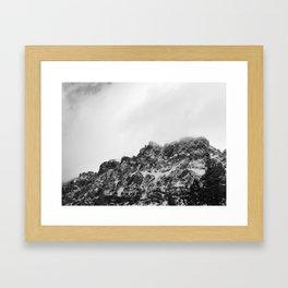 Black Castle Mountain Framed Art Print