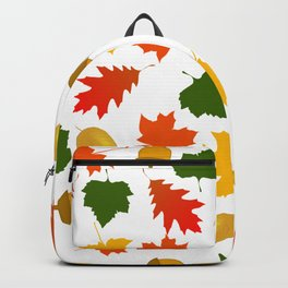 Falling Autum Leaves & Acorns Backpack