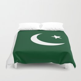 The National Flag of Pakistan - Authentic Version Duvet Cover