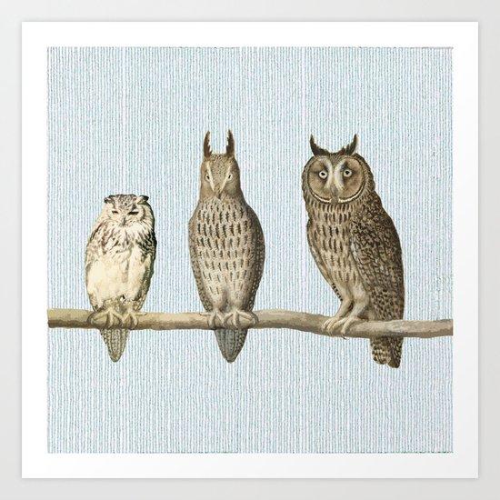 Bonsai and friends Art Print