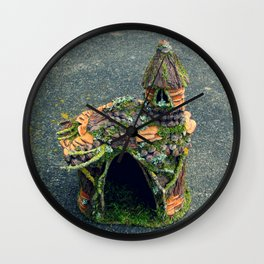 Faery Cottage Wall Clock