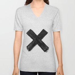 Black X Unisex V-Neck