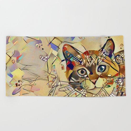 Cat Basil Beach Towel