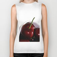 cherry Biker Tanks featuring Cherry by LoRo  Art & Pictures
