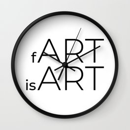 fArt is Art Wall Clock