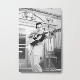 Johnny Cash Rock Music Band Rock & Roll Musician Poster and Canvas Art Metal Print