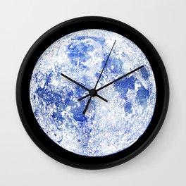 Moon Map Noir Wall Clock
