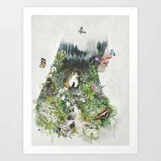 Cat in the Garden of Your Mind Art Print
