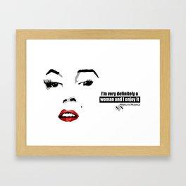 marilyn black and white art design Framed Art Print