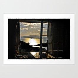 The Haunted Sunset Art Print