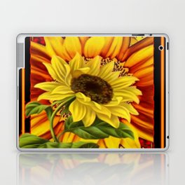 BLACK-RED YELLOW SUNFLOWER GRAPHIC Laptop & iPad Skin