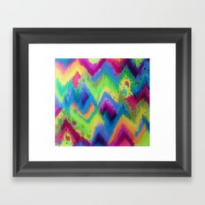 BOLD QUOTATION 2 - Colorful Bright Cheerful Fine Art Chevron Pattern Ikat Quote Modern Painting Framed Art Print