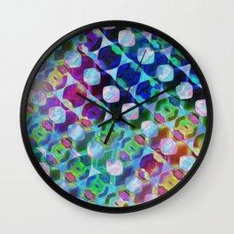 Ocean Rainbow Horizontal Geometrics Wall Clock