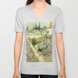 Vincent Van Gogh : Garden at Arles Unisex V-Neck