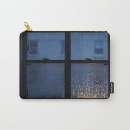 City Buildings on a Rainy Day Carry-All Pouch