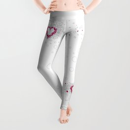 Digital Unfinished Love Intoxication Leggings