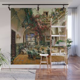 Interior Courtyard Seville Spain by Manual Garcia Y Rodriguez Wall Mural