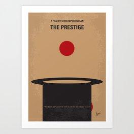 No381 My The Prestige minimal movie poster Art Print